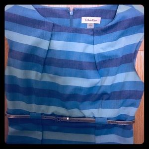 Calvin Klein Professional Dress with blue Stripes